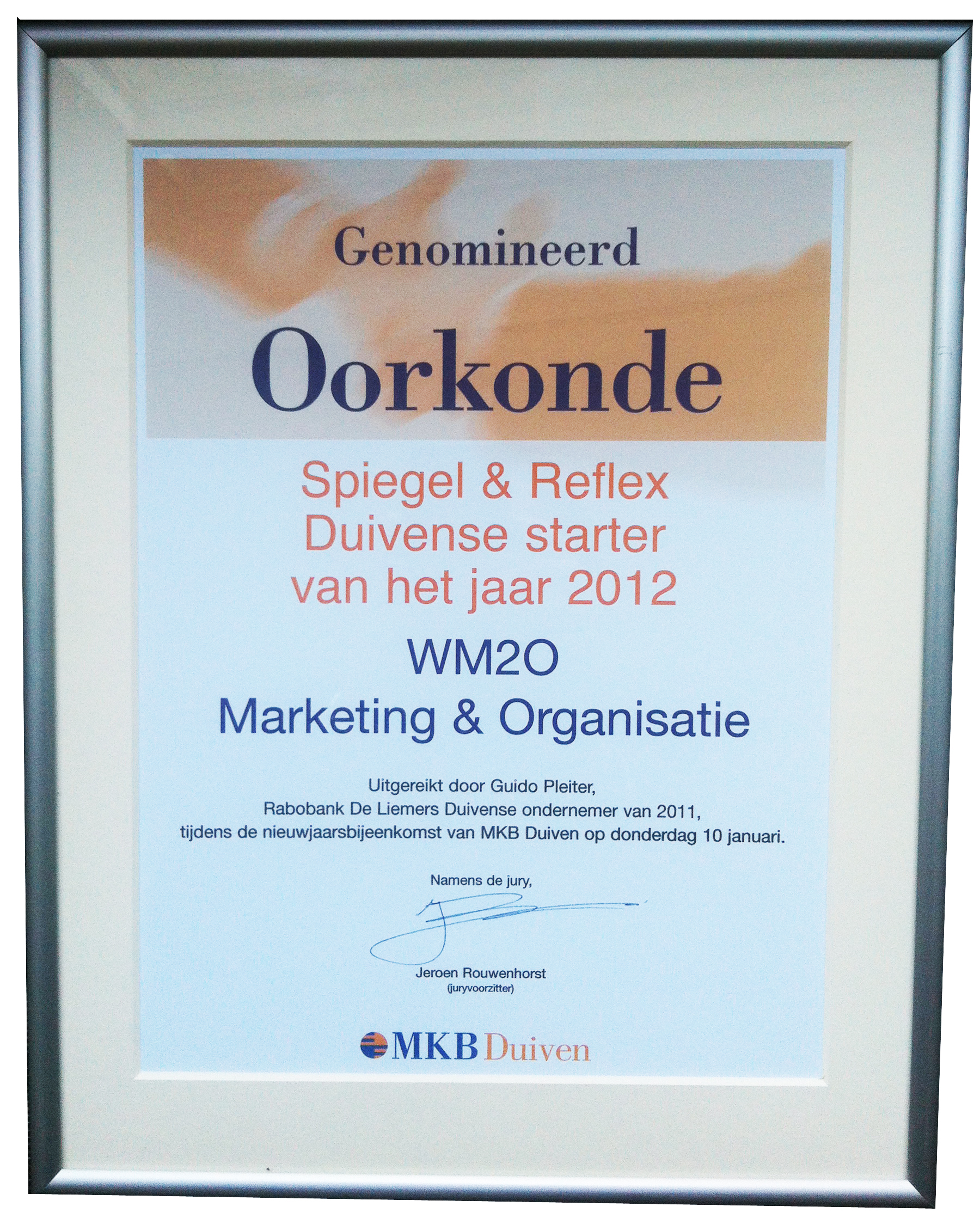 WM2O Marketing genomineerd